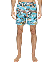 Original Penguin - Tropical Printed Fixed Waist Swim Shorts