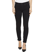 Liverpool - Cami Rolled-Cuff Crop Perfect Black Denim in Black Rinse