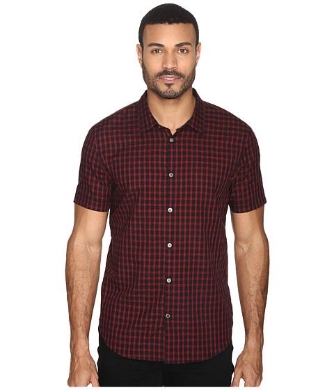 John Varvatos Star U.S.A. Slim Fit Sport Shirt with Cuffed Short Sleeves W443S4B - Black