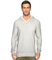John Varvatos Star U.S.A. - Long Sleeve Reverse Pullover Knit Hoodie with Cross Over Neckline K2891S4B