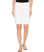 Liverpool - Sienna Pull-On Rolled-Cuff Bermuda Slub Stretch Twill in Bright White