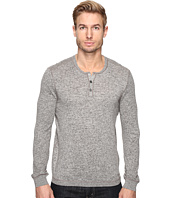 John Varvatos Star U.S.A. - Long Sleeve Henley Sweater with Coverstitch Detail Y1443S4B