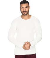 John Varvatos Star U.S.A. - Waffle Stitch Long Sleeve Drop Shoulder Crew Neck Sweater Y1231S4B