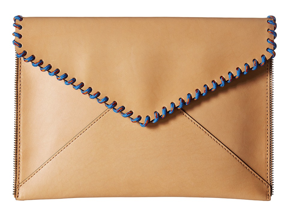 Rebecca Minkoff Leo Clutch (Natural) Clutch Handbags