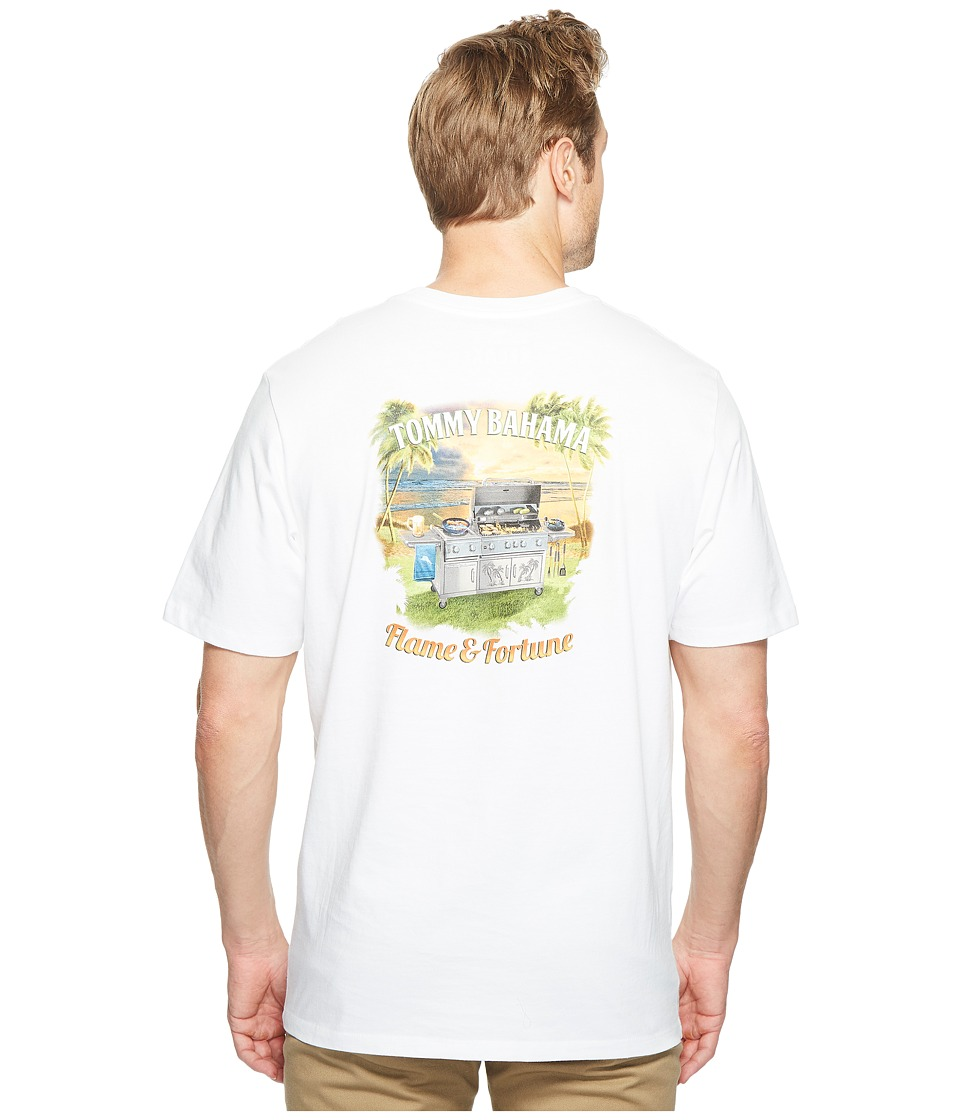 Tommy Bahama Flame and Fortune Tee (White) Men