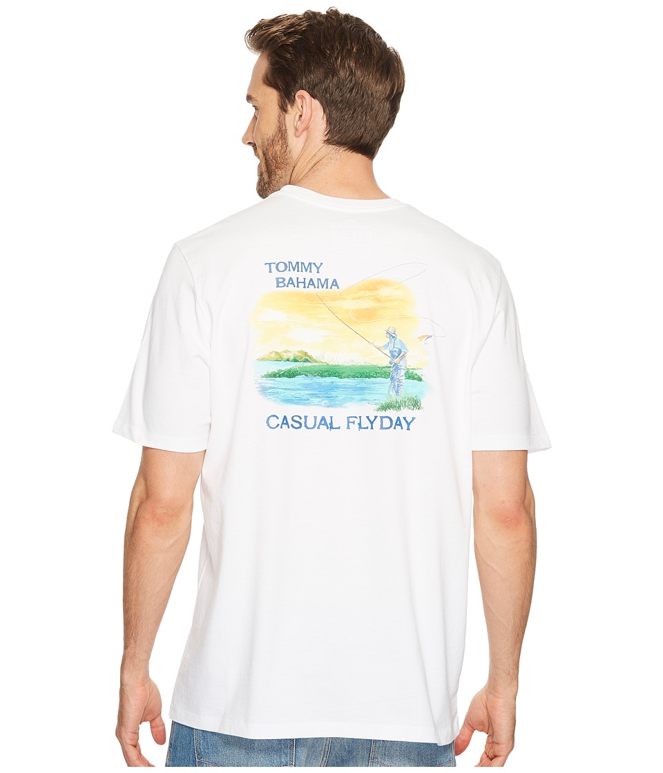 Tommy Bahama Casual Flyday Tee (White) Men
