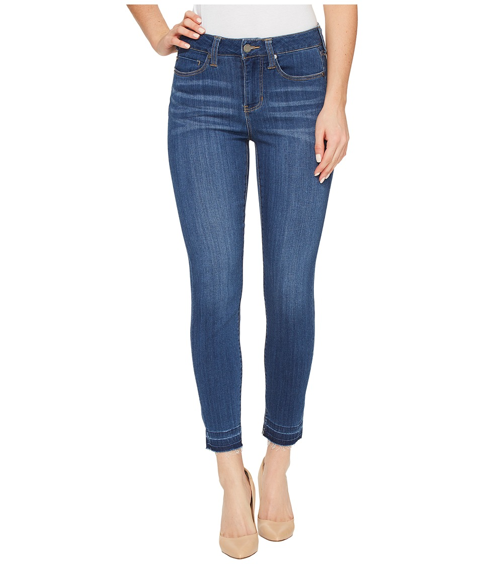 Liverpool Liverpool - Avery Crop with Released Hem on Silky Soft Denim in Coronado Mid