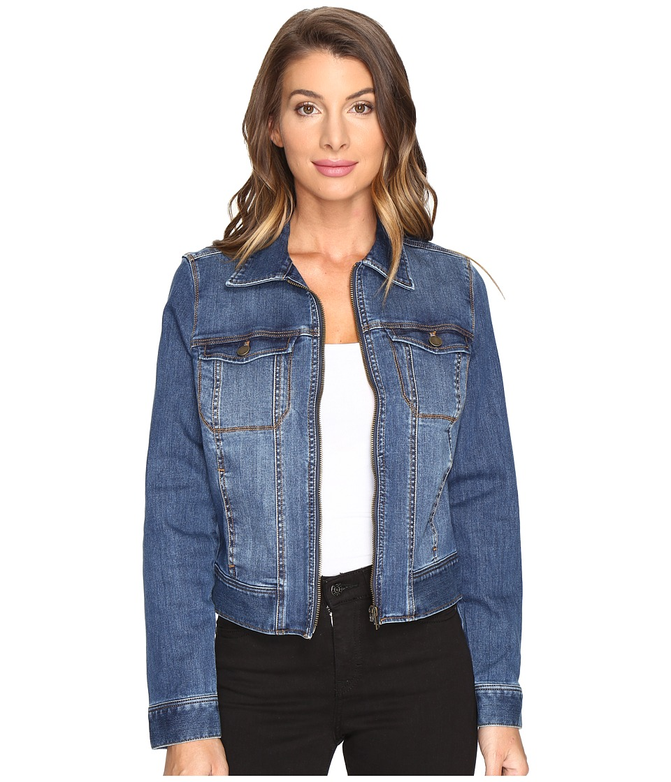 Liverpool Denim Zip Jacket in Vintage Super Comfort Stret...