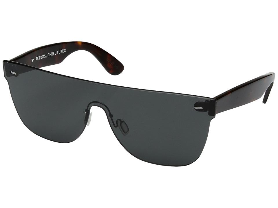 Super Screen Flat Top Black (Black) Fashion Sunglasses