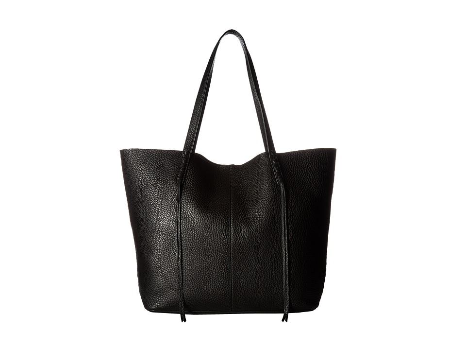 Rebecca Minkoff Medium Unlined Tote with Whipstitch (Blac...