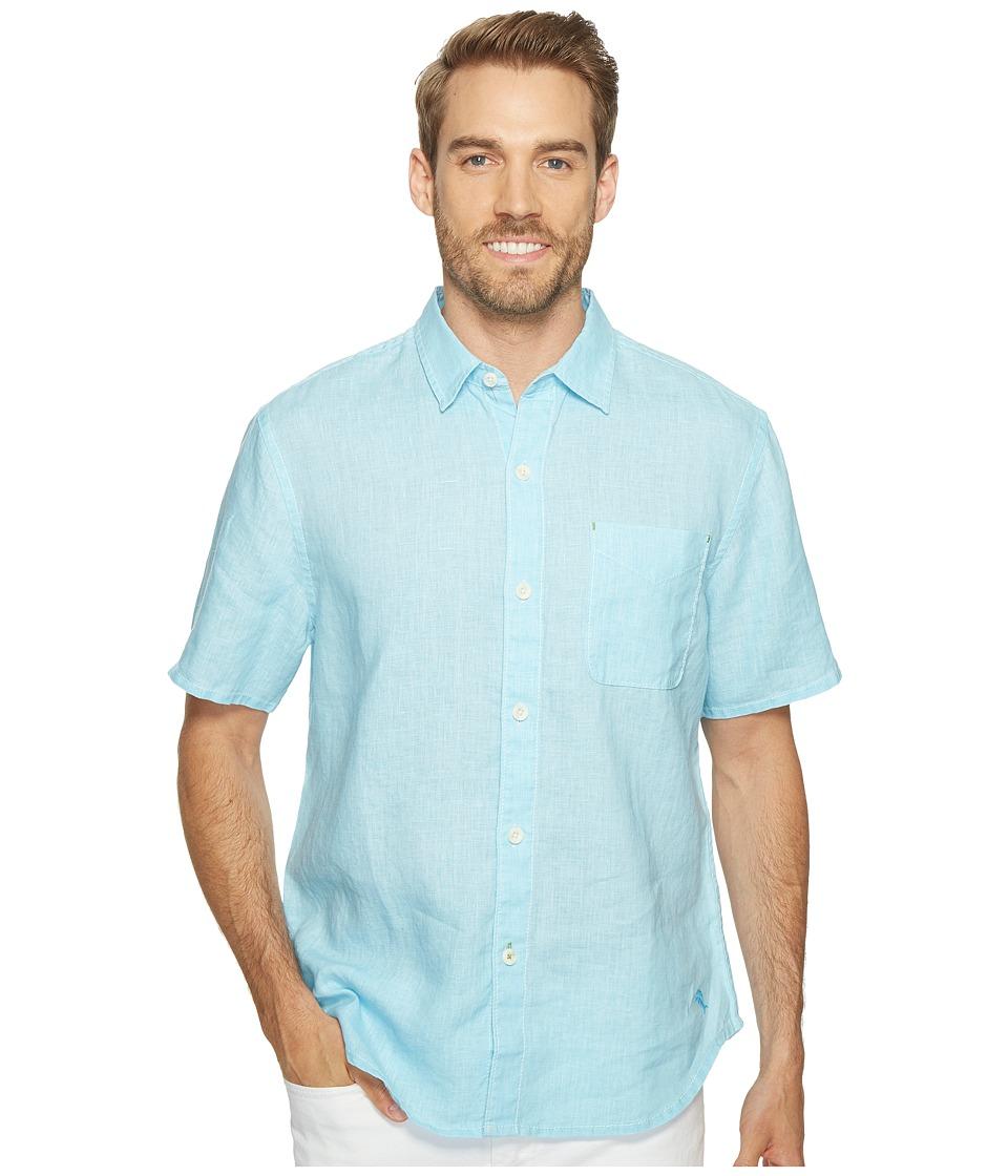 Tommy Bahama Sea Glass Breezer S/S Camp Shirt (Dark Tile) Men's Clothing