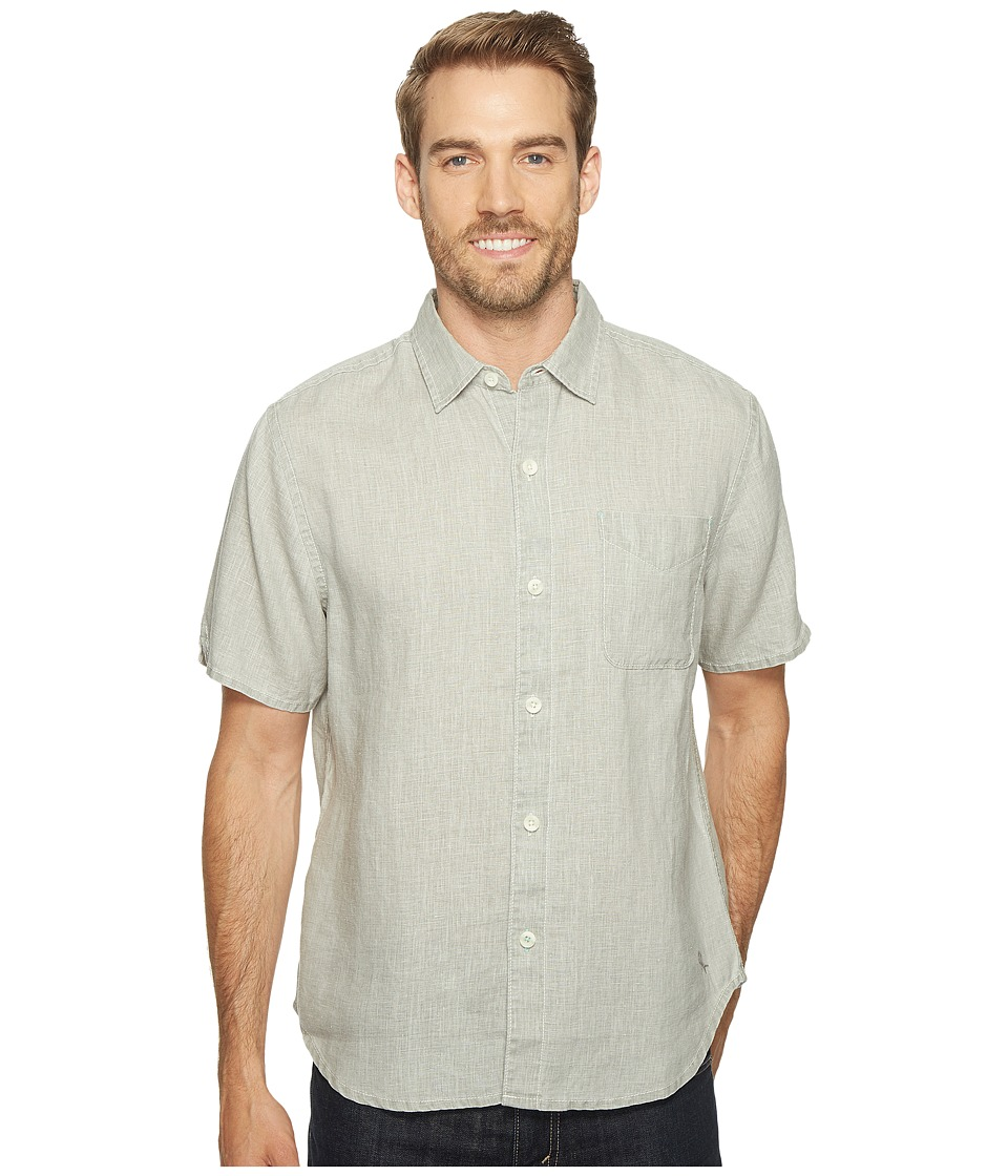 Tommy Bahama Sea Glass Breezer S/S Camp Shirt (Light Grey...