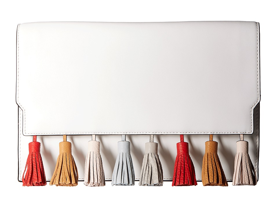 Rebecca Minkoff Sofia Clutch (Optic White Multi) Clutch Handbags