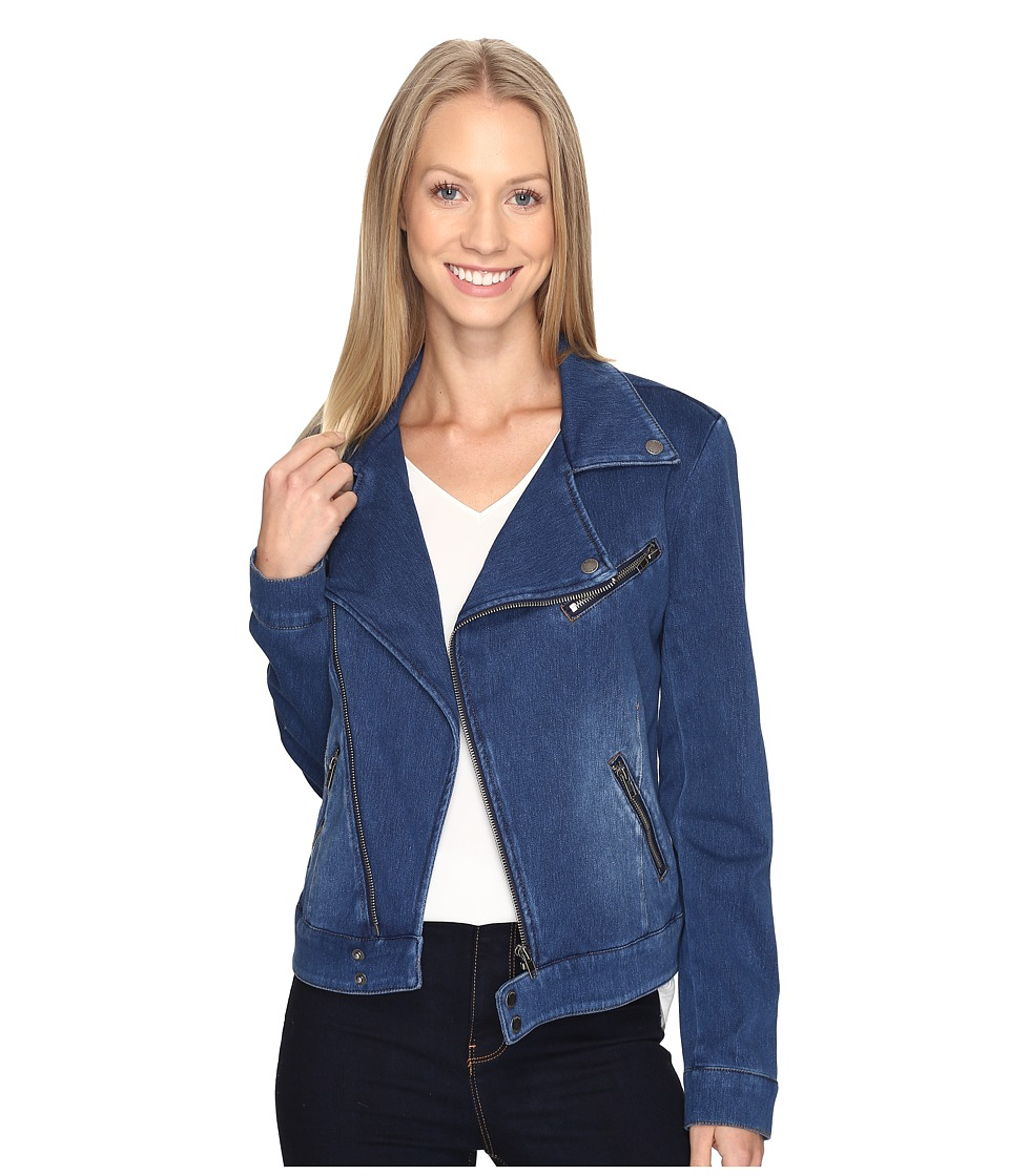 Liverpool - Moto Jacket Powerflex Knit (Admiral Blue) Womens Coat