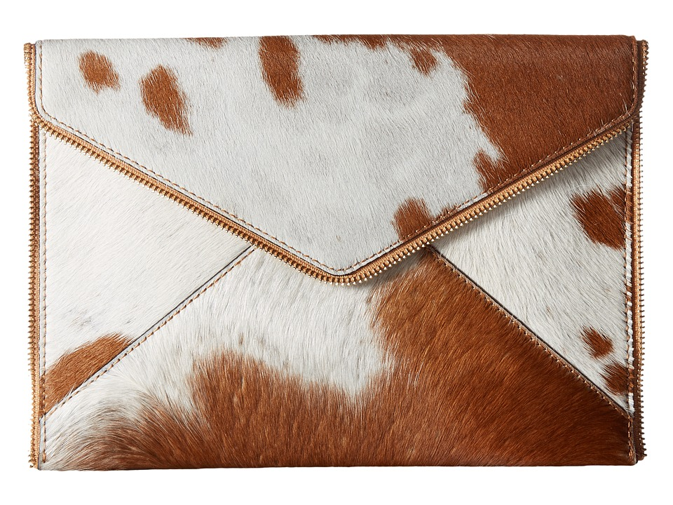 Rebecca Minkoff Haircalf Leo Clutch (Haircalf/Sand) Clutch Handbags