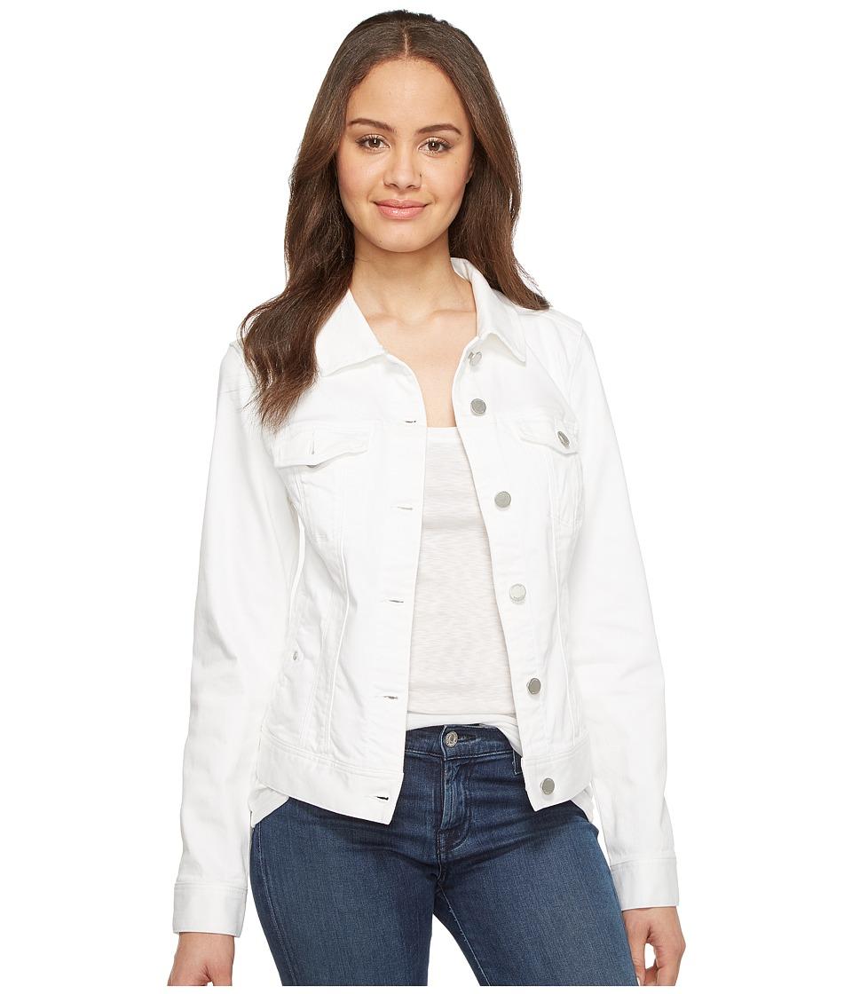 Liverpool - Classic Denim Jacket in Stretch Slub Twill (Bright White) Womens Coat