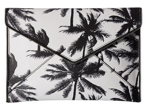 Rebecca Minkoff Palm Tree Leo Clutch - Black/White