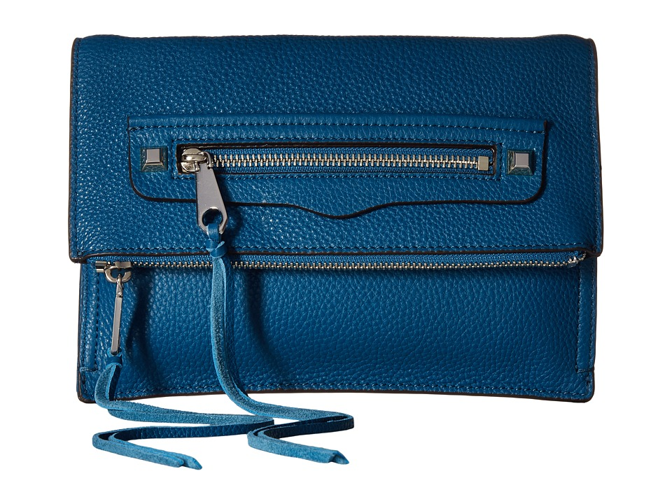 Rebecca Minkoff Small Regan Clutch (Lake Blue) Clutch Handbags