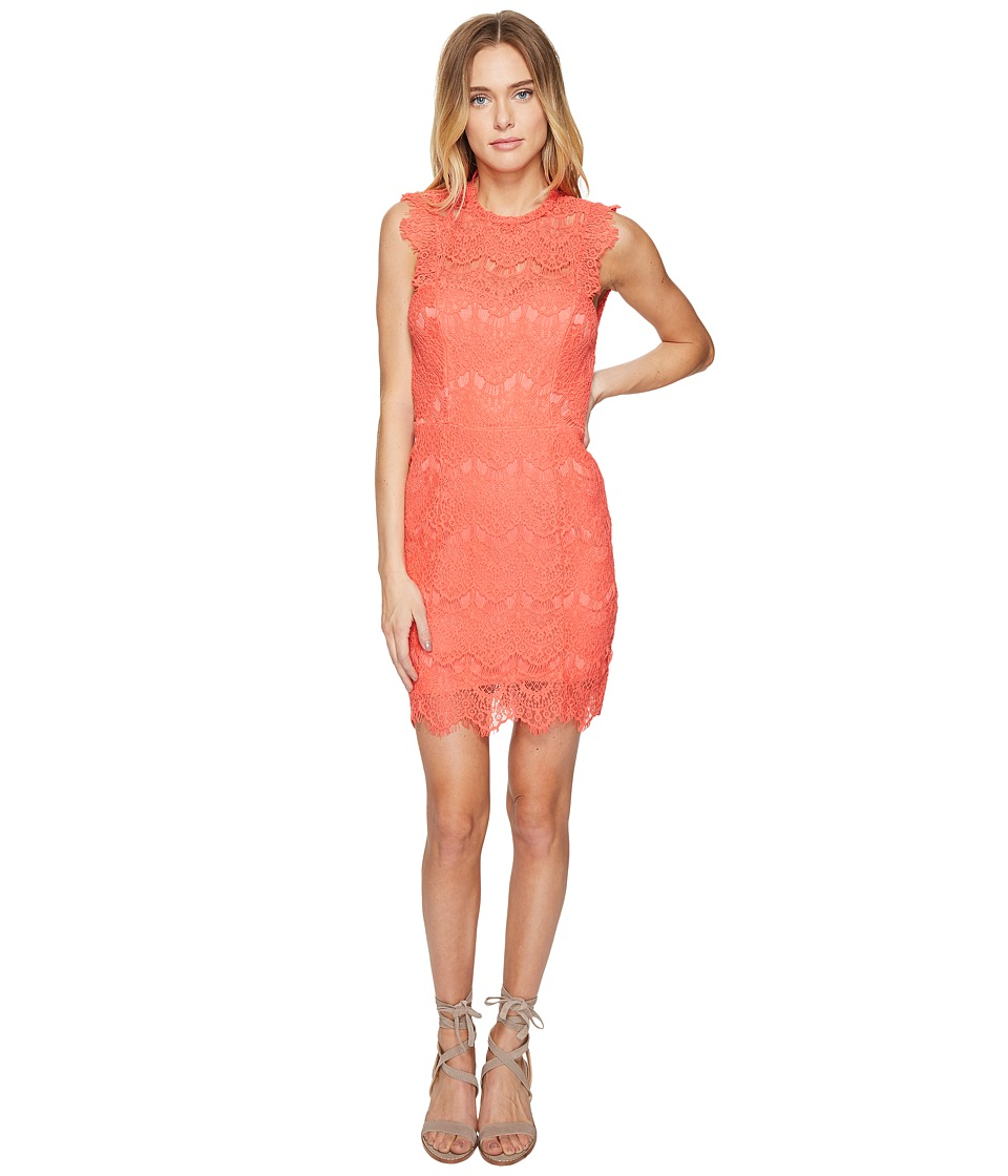 Free People Daydream Bodycon Slip Dress (Coral) Women