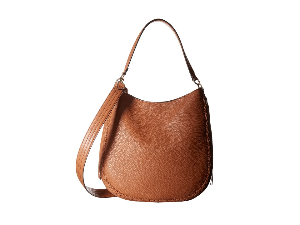 Rebecca Minkoff - Unlined Convertible Hobo with Whipstitch (Almond) Hobo Handbags