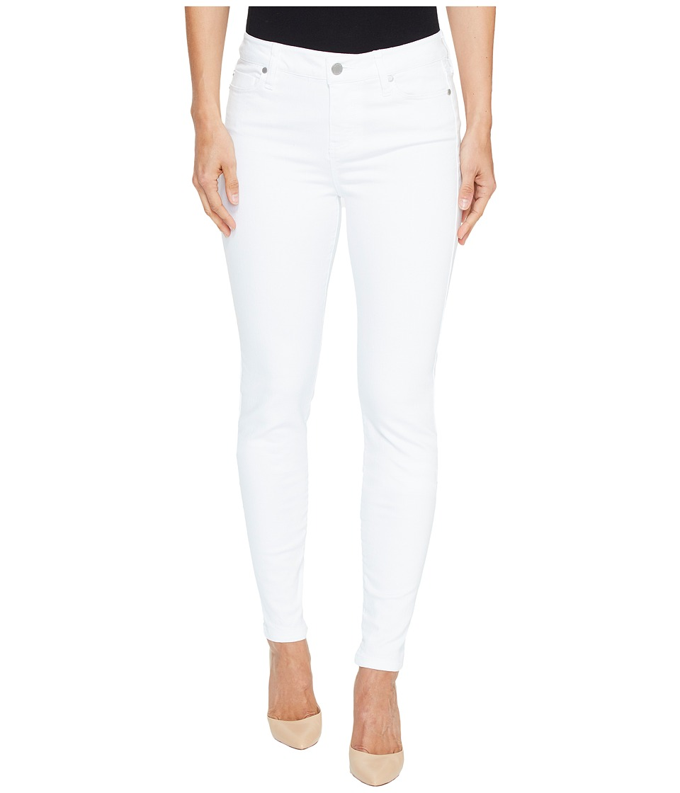 Liverpool Liverpool - Abby Skinny in Vintage Slub Stretch Twill in Bright White