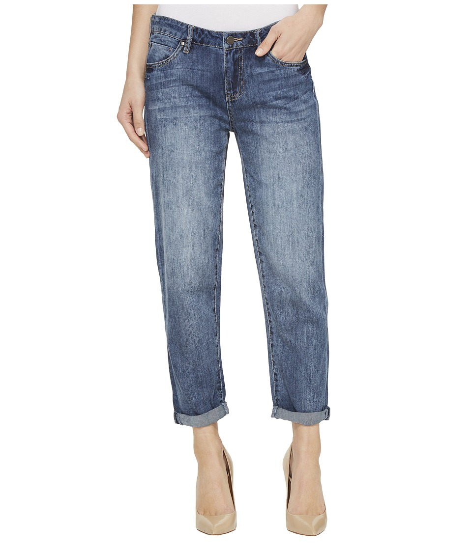 Liverpool - Cameron Cropped Relaxed Boyfriend Soft Rigid Denim in Belleview Vintage Medium