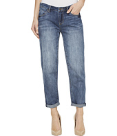 Liverpool - Cameron Cropped Boyfriend Soft Rigid Denim in Belleview Vintage Medium