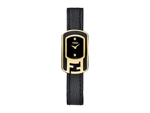Fendi Timepieces Chameleon Enamel 18X31mm - Yellow Gold/Black