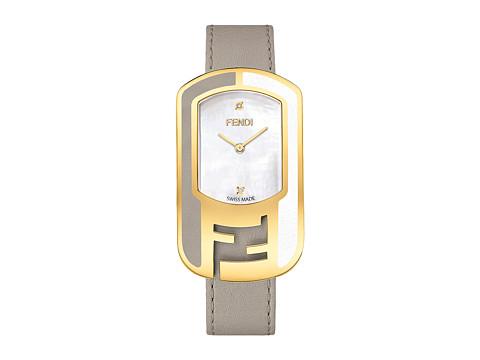 Fendi Timepieces Chameleon Leather 29X49mm - Yellow Gold/Tortola