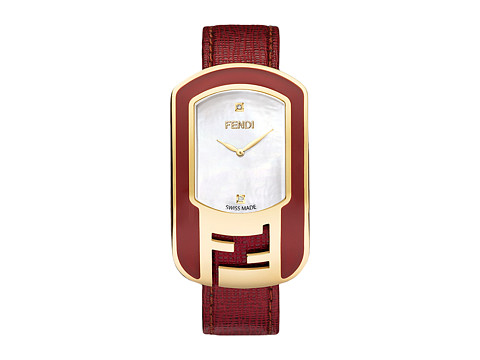 Fendi Timepieces Chameleon Enamel 29X49mm - Yellow Gold/Red