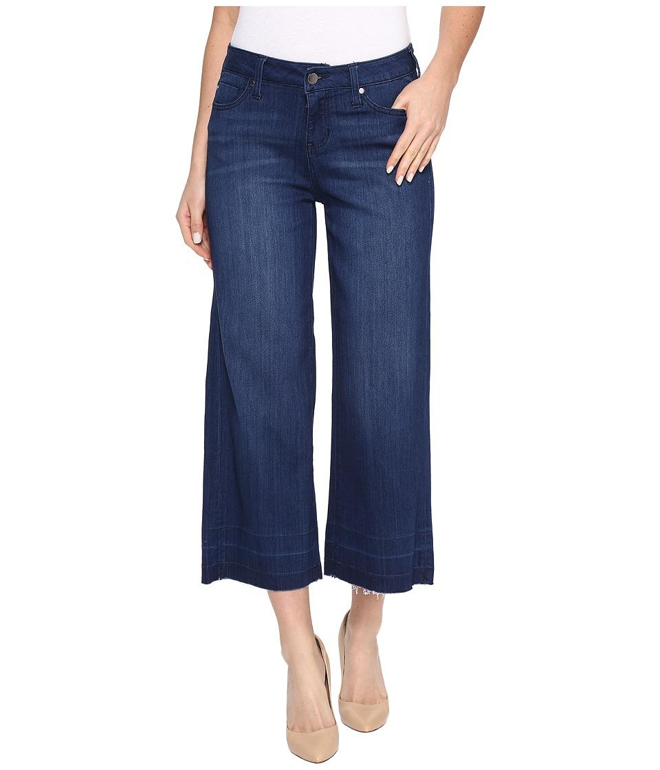 Liverpool - Layla Wide Leg Crop with Released Hem on Silky Soft Denim in Havasu Deep Blue (Havasu Deep Blue) Womens Jeans