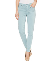 Liverpool - Devon Relaxed Ankle Skinny in Stretch Peached Twill in Slate Blue