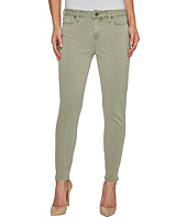 Liverpool - Devon Relaxed Ankle Skinny in Stretch Peached Twill in Shadow Green