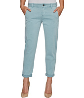 Liverpool - Billy Trousers Rolled-Cuff in Stretch Peached Twill in Slate Blue