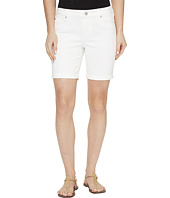 Liverpool - Corine Walking Shorts Rolled-Cuff in Stretch Peached Twill in Bright White