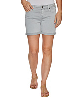 Liverpool - Vickie Shorts Rolled-Cuff in Stretch Peached Twill in Pearl Grey