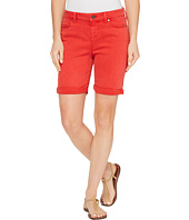 Liverpool - Corine Rolled-Cuff Walking Shorts in Pigment Dyed Stretch Slub Twill in Ribbon Red