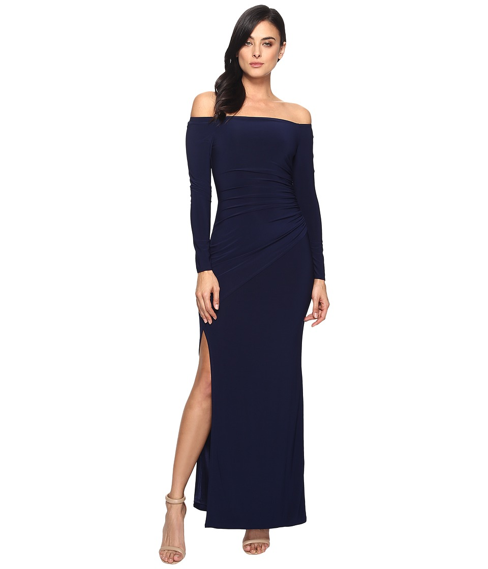 Laundry by Shelli Segal Off the Shoulder Gown (Inkblot) Women