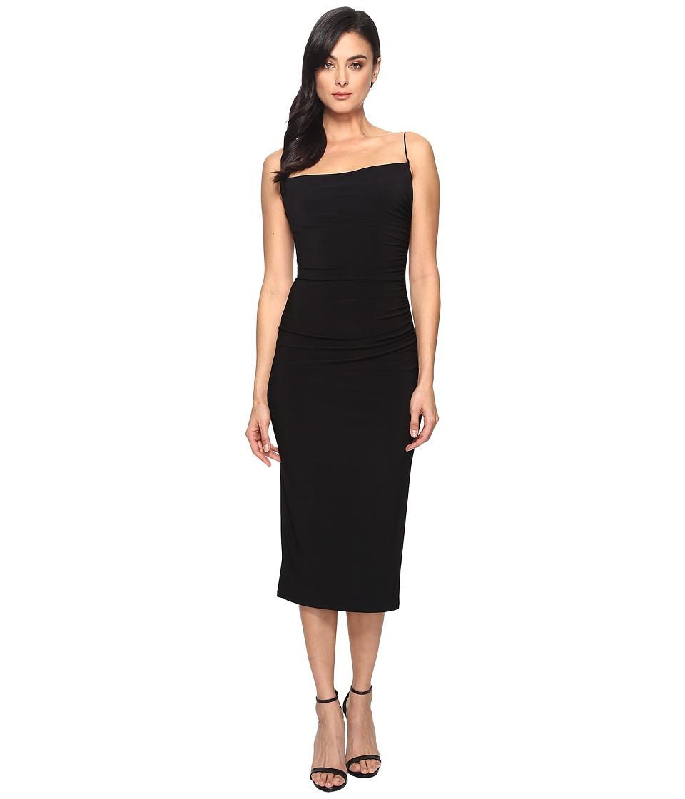 Laundry by Shelli Segal Midi Spaghetti Strap Dress (Black) Women