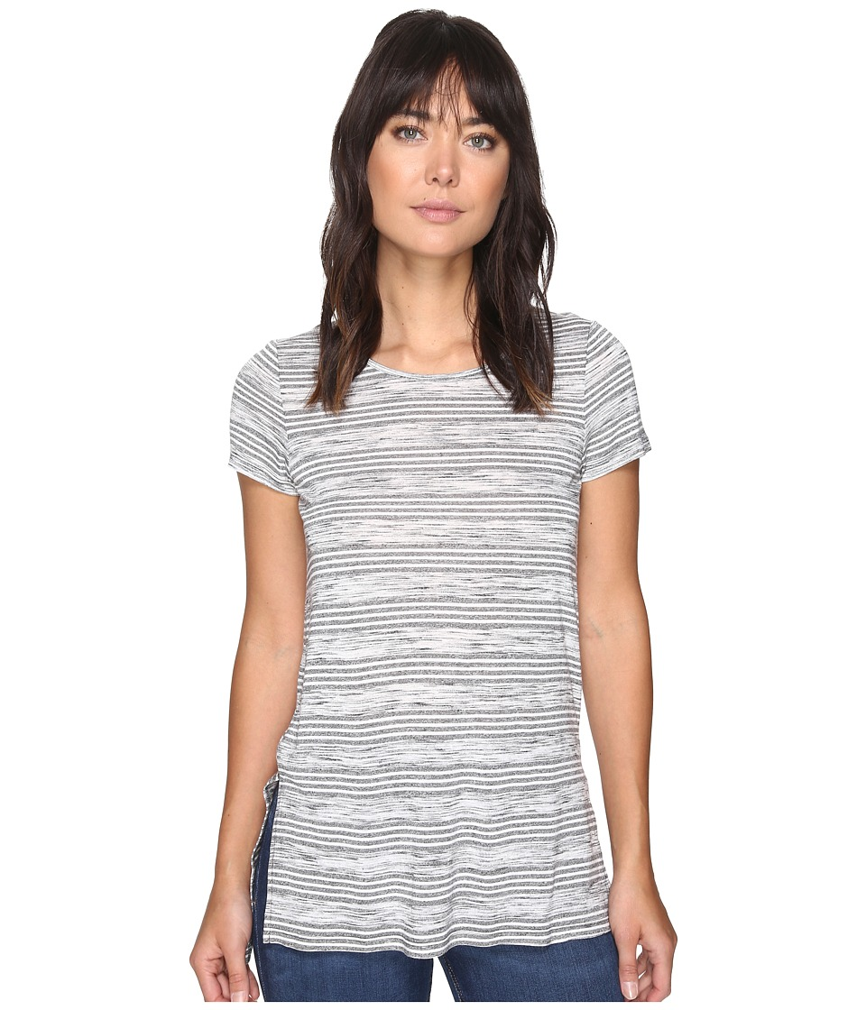 kensie - Speckled Striped Tee Top KS2K3467