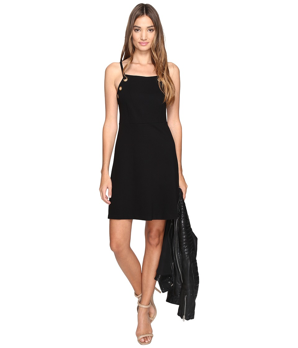 kensie Twill Ponte Dress KS2K7718 (Black) Women