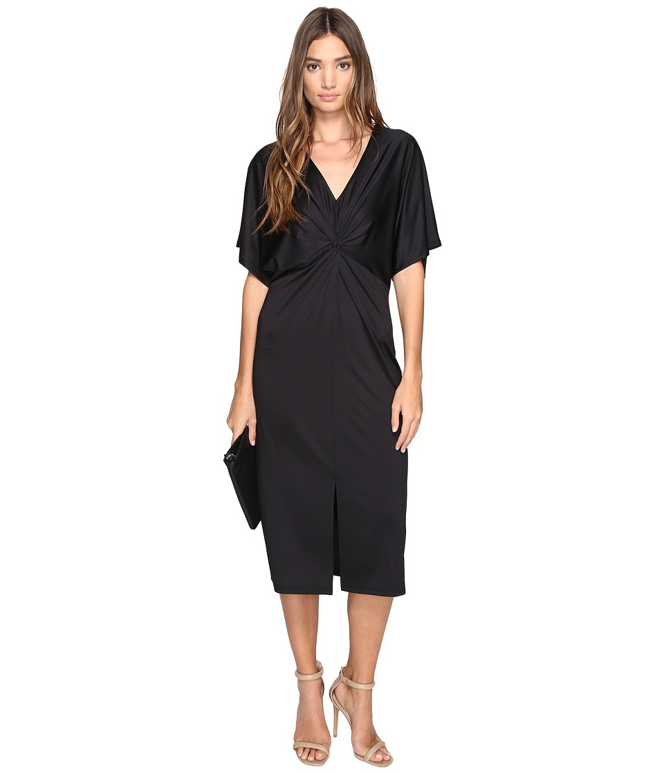 kensie Lightweight Viscose Jersey Dress KS2U7003 (Black) Women