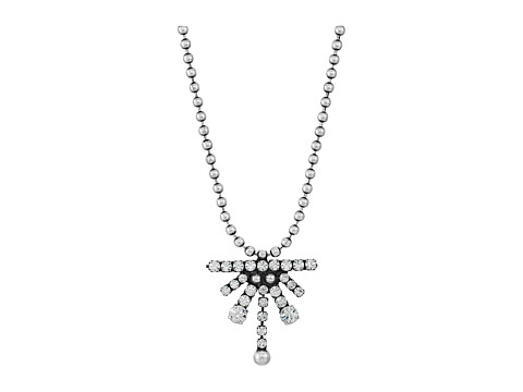 DANNIJO RUTH Necklace - Ox Silver/Clear