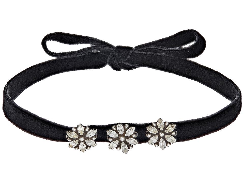 DANNIJO - SALIMA Necklace (Black/Ox Silver/Multi) Necklace