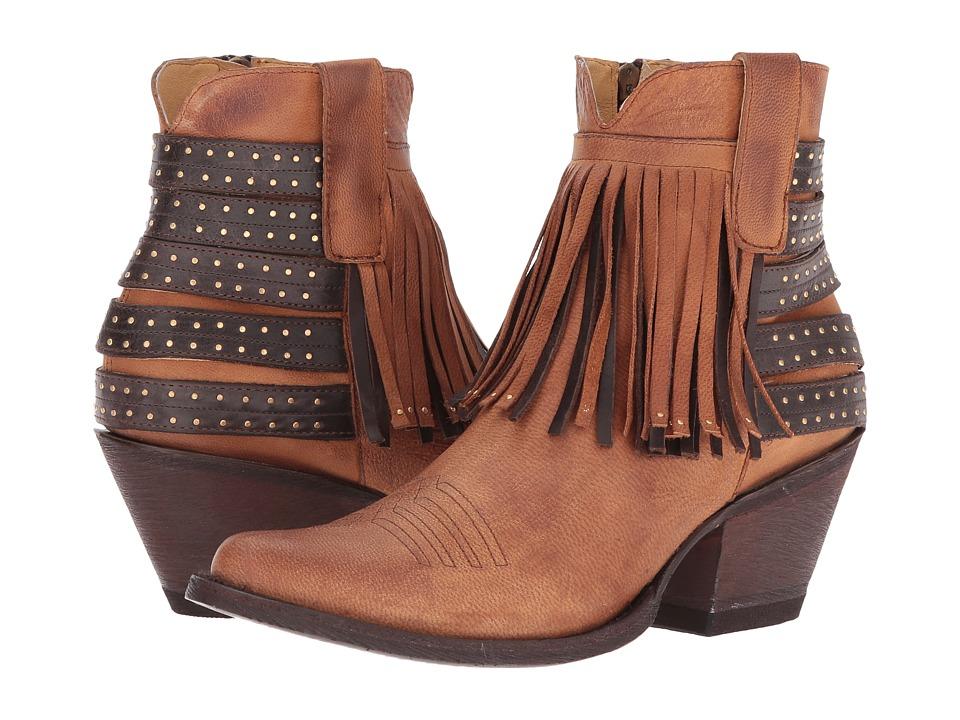 Old Gringo Elpis (Tan/Chocolate) Cowboy Boots