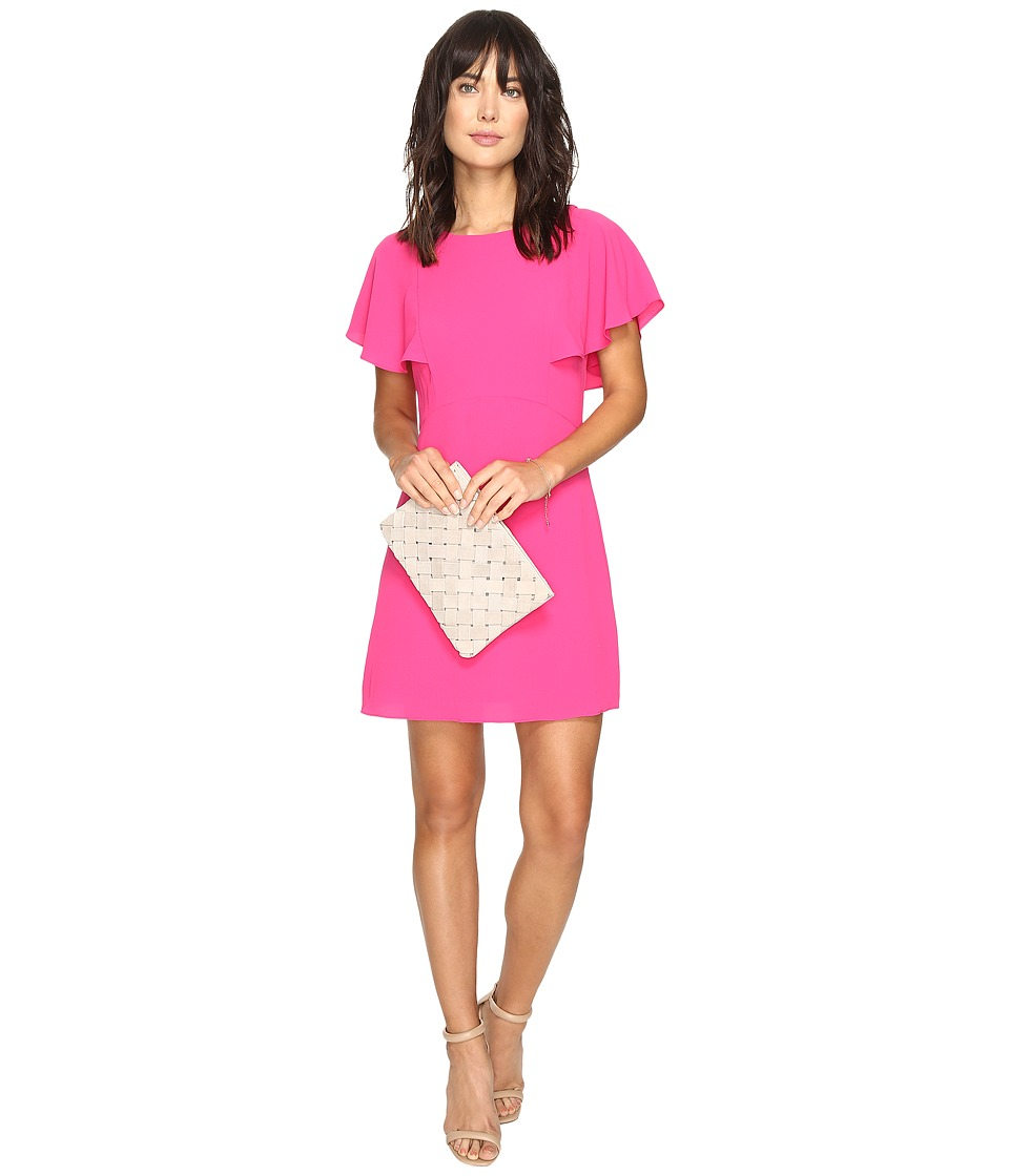 kensie Crinkle Crepe Dress KS3K7573 (Bright Fuchsia) Women