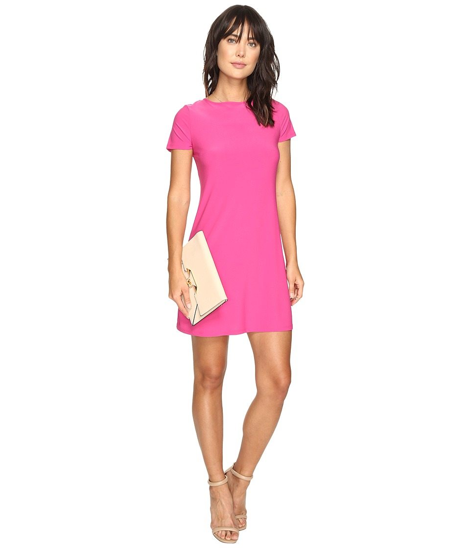 kensie Slinky Knit Reversible Dress KS3K7788 (Bright Fuchsia) Women