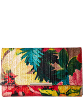 Jessica McClintock - Nora Printed Floral Straw Envelope Clutch