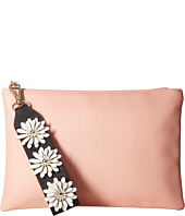 Jessica McClintock - Gigi Flower Applique Pouch Clutch