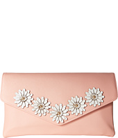Jessica McClintock - Arielle Flower Applique Envelope Clutch